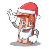 Santa bacon mascot cartoon style. Vector illustration Royalty Free Stock Images