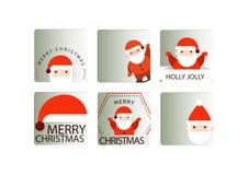 Santa badge icons set Royalty Free Stock Photography