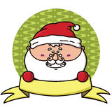 Santa badge Royalty Free Stock Photo