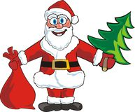 Santa with bag royalty free illustration