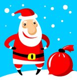 Santa with bag Royalty Free Stock Photos
