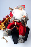 Santa on a bag with gifts Royalty Free Stock Photos