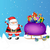 Santa with bag of gifts Royalty Free Stock Photography