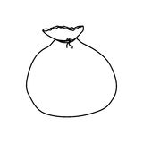 Santa bag isolated. Icon  illustration graphic design Royalty Free Stock Image