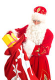 Santa with bag of presents. Stock Photos