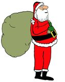 Santa with bag Stock Images
