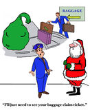 Santa At Baggage Claim Stock Photos