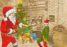 Santa baker Stock Images