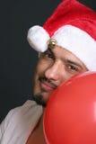 Santa with balloon Stock Photo