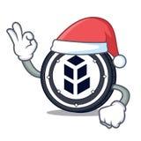 Santa bancor coin mascot cartoon. Vector illustration Stock Photography