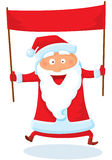Santa with banner. Vector illustration Stock Photos