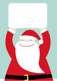 Santa with banner Royalty Free Stock Photos