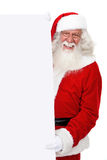 Santa with a banner Stock Photo