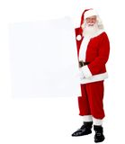 Santa with a banner Stock Image