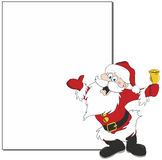Santa banner. Isolated on white Stock Photo