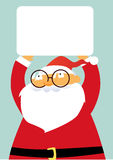 Santa and banner Royalty Free Stock Photography