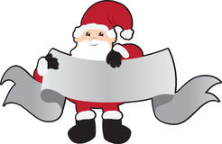 Santa with Banner Stock Photography