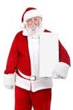 Santa with  banner Stock Photos