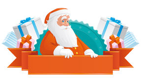 Santa banner Stock Images