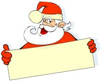Santa with banner Royalty Free Stock Photo