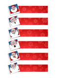 Santa banners Royalty Free Stock Photography