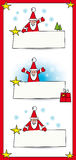 Santa with banners Royalty Free Stock Photography