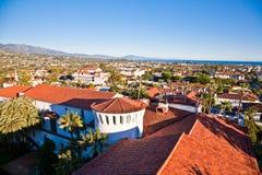 Santa Barbara. Roof of Santa Barbara Courthouse, Central California Stock Images