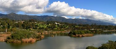 Santa Barbara. Panorama of the Santa Barbara Mountains Royalty Free Stock Photo