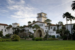 Santa Barbara Architecture van de binnenstad Stock Afbeelding