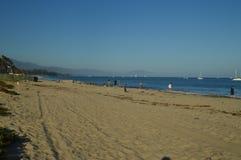 Santa Barbara Beach At Sunset Horizontal de nature photographie stock