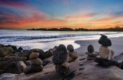 Free Santa Barbara Beach Sunset With Balanced Rocks Royalty Free Stock Image - 110561076
