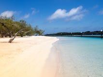 Santa Barbara Beach. With tropical blue warm waters Curacao Stock Image