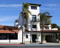 Santa Barbara - budynek Zdjęcia Royalty Free