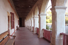 Santa barbara california mission. Arches and corridor at the Santa Barbara mission in California Royalty Free Stock Image