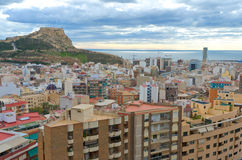Santa Barbara Caste, Alicante, Spain Stock Images