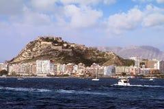 Santa Barbara Castle in Alicante stock fotografie