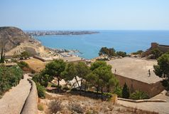 Santa Barbara Castle in Alicante Stock Photos