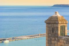 Santa Barbara Castle in Alicante royalty-vrije stock fotografie