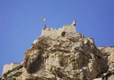 Santa Barbara castle in Alicante. Spain Royalty Free Stock Photo