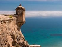 Santa Barbara Castle in Alicante, Spanien lizenzfreies stockbild