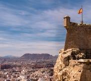 Santa Barbara Castle dans Alicante, Espagne Photo libre de droits