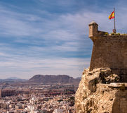 Santa Barbara Castle en Alicante, España Foto de archivo libre de regalías