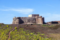 Santa Barbara Castle on Stock Photography