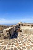 Santa Barbara Castle sobre Foto de Stock Royalty Free