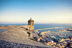 Santa Barbara castle, Spain Stock Photo