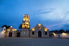 Santa Barbara Church. Evening at the Santa Barbara Church  in Mompox, Colombia Royalty Free Stock Image