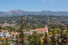 Santa Barbara Church. Tile rooftops of Santa Barbara California Royalty Free Stock Photo