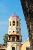 Santa Barbara Church. Yellow tower of Santa Barbara church in Mompox, Colombia Royalty Free Stock Photo