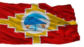 Santa Barbara City Flag, Chili, d'isolement sur le fond blanc Illustration Stock