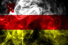 Santa Barbara city smoke flag, California State, United States O. F America vector illustration